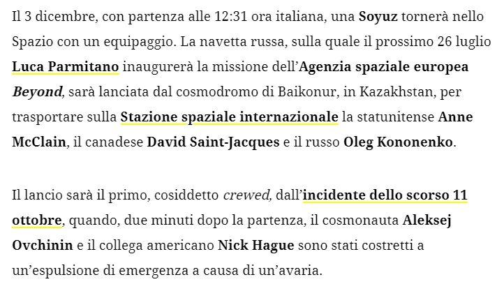 Missione Beyond, Luca Parmitano - 26 luglio 2019